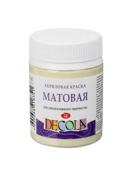Матовая акриловая краска Decola, цв.ванильный, 50мл