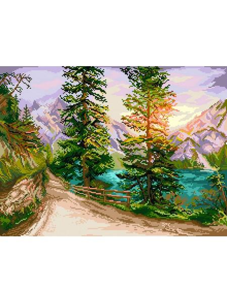 Рисунок на канве - 37х49см - 1886 Шорох листьев
