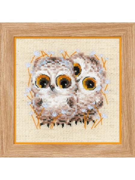 Набор для вышивания Riolis 'Маленькие совята', 13*13 см