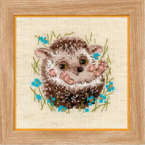 Набор для вышивания Riolis 'Маленький ежик', 13*13 см