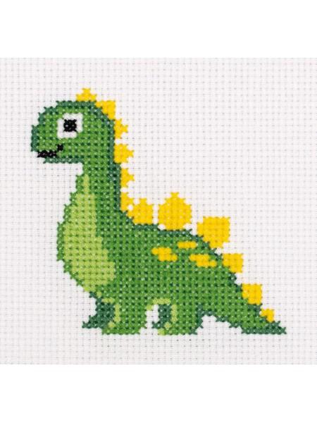 Набор для вышивания Klart 'Динозаврик', 10,5*10,5 см