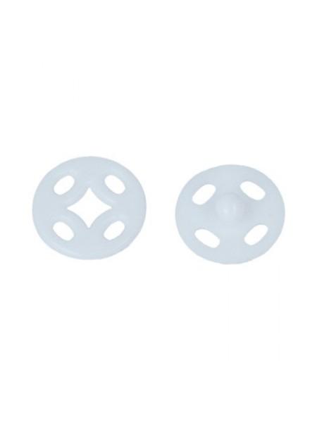 Кнопки пришивные белые  ,пластик,10 мм,в уп. 10 кнопок