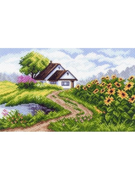Рисунок на канве - рис 18х29см , Летний день