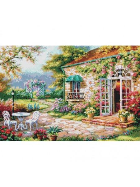 """Вышивка крестом Белоснежка- """"Цветущий сад"""" рисунок 34*50см.  88 цв"""