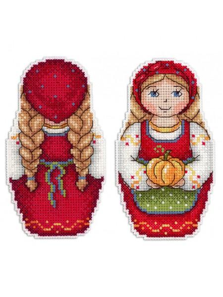 Набор для вышивания на пластиковой канве МП Студия 'Урожайная осень' 11*7см