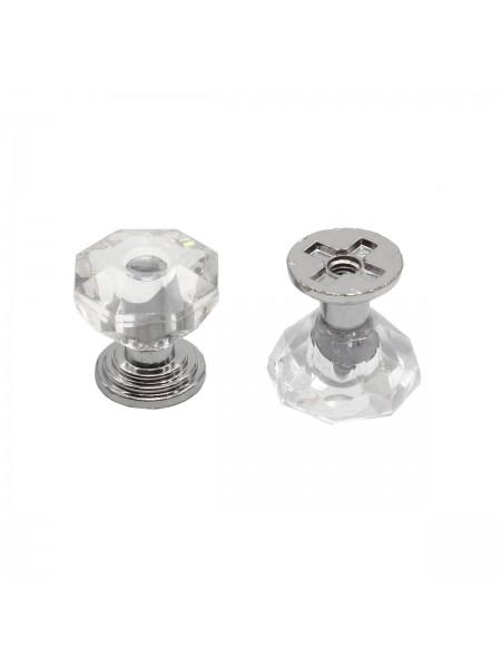 Ручка декоративная, кристалл 2*1,8см, цена за 1шт