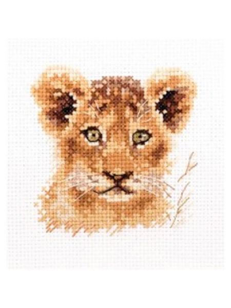 Набор для вышивания АЛИСА 'Животные в портретах. Львенок' 8*8см