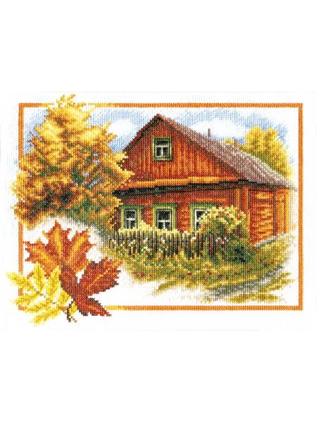 Набор для вышивки крестом Panna ПС-0314 Осень в деревне