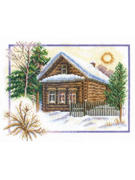 Набор для вышивки крестом Panna ПС-0333 Зима в деревне