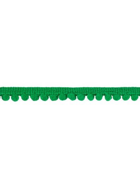 Тесьма с мини помпонами. зелёная,1 метр