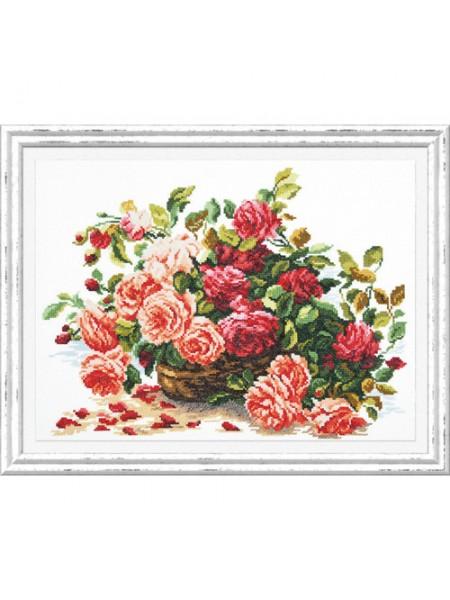 Набор для вышивания ЧУДЕСНАЯ ИГЛА  'Королевские розы', 38*28 см