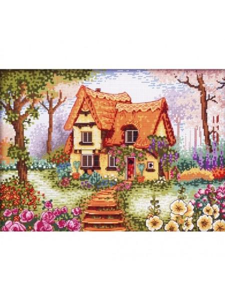 """Вышивка крестом Белоснежка- """"Сказочный домик"""" рисунок 26*36 см"""