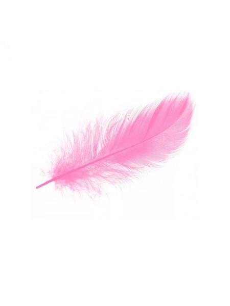 Перья декоративные,цв-розовый(08).размер 6-10 см,цена за 30 шт