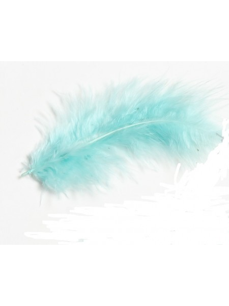 Перья декоративные,цв-аквамариновый(029).размер 10-13см,цена за 30 шт