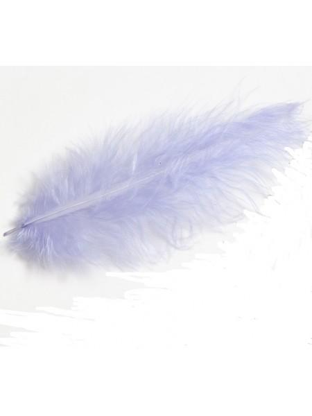 Перья декоративные,цв-св-фиолетовый(11).размер 10-13 см,цена за 30 шт