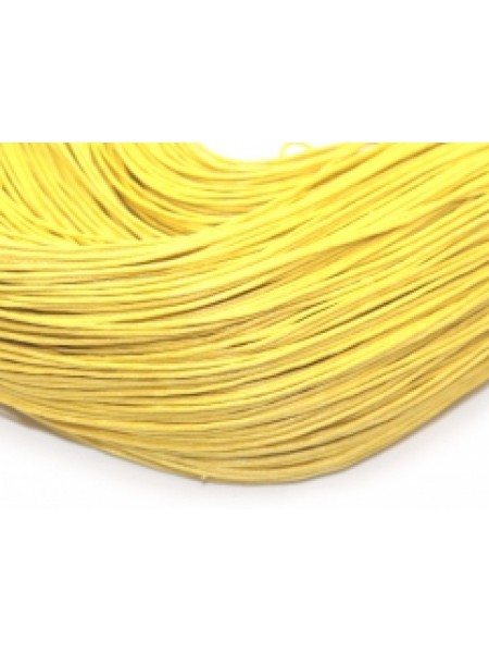 Вощеный шнур,1 мм. св-жёлтый,цена за 1 метр