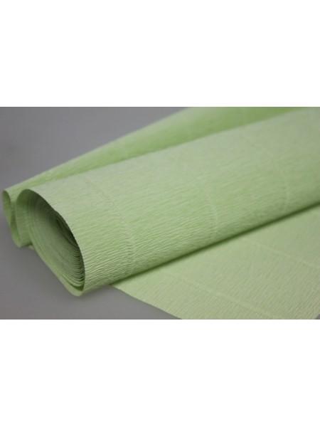 Бумага гофрированная-CARTOTECNICA ROSSI, цв светло -салатовый  №566