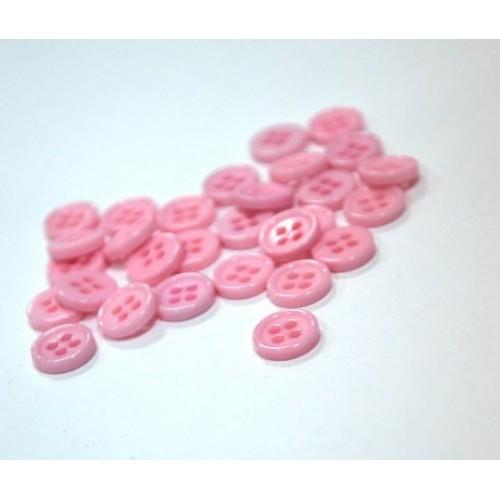 Пуговица акриловая, на 4 прокола,8мм,Цв-розовый,цена за 1 шт