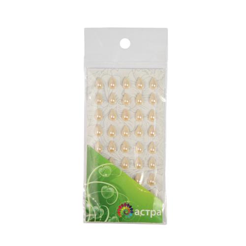 Декоративные наклейки(капельки),6*10м,№16,кремовые.цена за уп