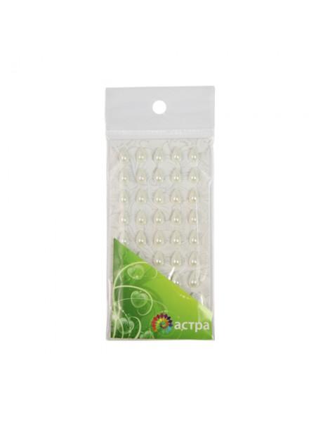 Декоративные наклейки(капельки),6*10м,№24,молочные.цена за уп