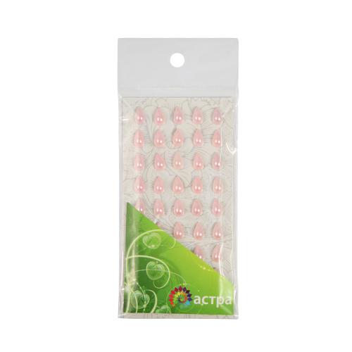 Декоративные наклейки(капельки),6*10м,№31,светло-розовые.цена за уп