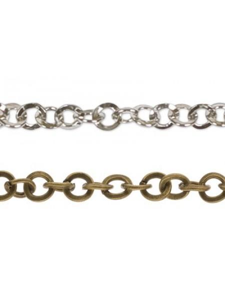 Цепочка металлическая,цв-бронза ,цена за 10 см