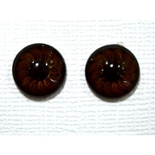 Глаза круглые ,клеевые ,карие, 6 мм, цена за пару