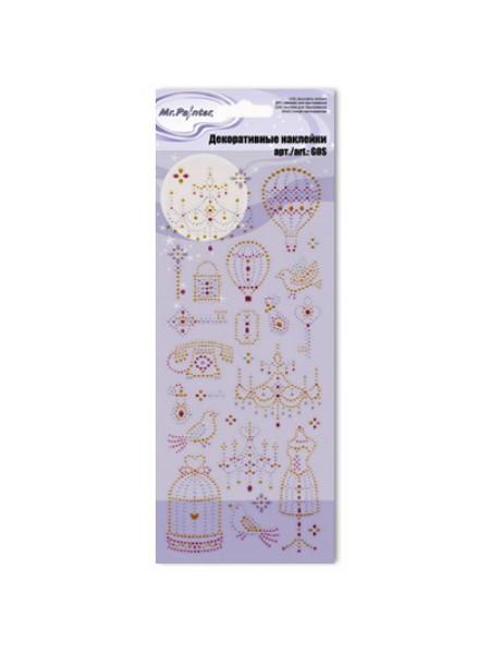Декоративные наклейки глиттерные 11-Винтаж