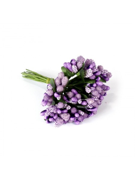 Букетик больших тычинок,PF-22-6,фиолетовые