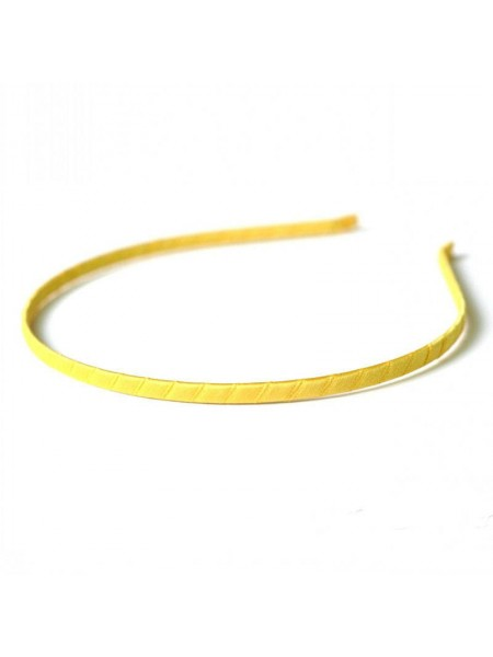 Заготовка-ободок для волос,обмотка жёлтая ,5мм