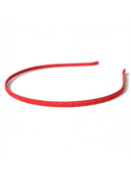 Заготовка-ободок для волос,обмотка красная  ,5мм