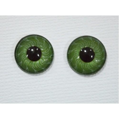 Глаза круглые ,клеевые ,зелёные, 6 мм, цена за пару