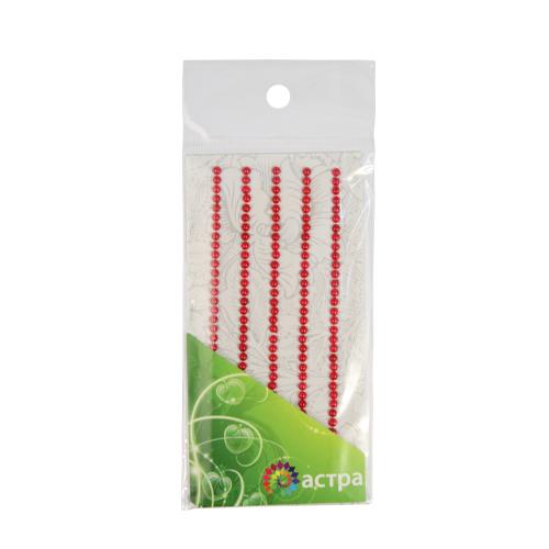 Декоративные наклейки(полужемчужинки),3мм,красные.цена за уп