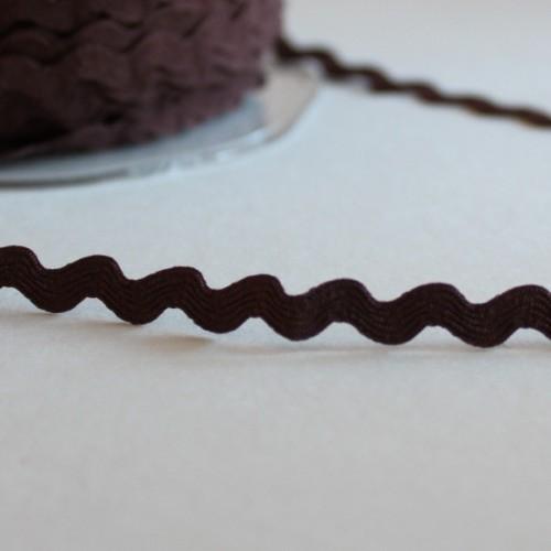 """Лента декоративная """"зиг-заг""""коричневый,5мм-цена за 1 метр"""