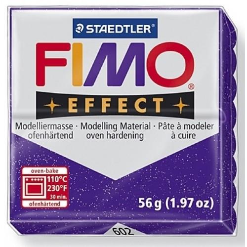 Полимерная глина FIMO effect,57гр,фиолетовый с блестками