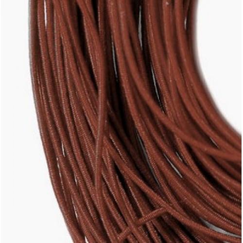 Резинка шляпная, 2мм, коричневая,цена за 1 метр