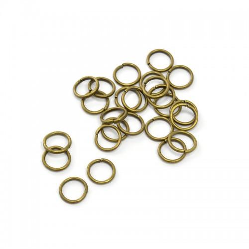 Колечки соединительные,цв-бронза,7 мм,цена за 10 шт