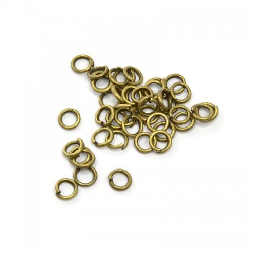 Колечки соединительные,цв-бронза,5 мм,цена за 10 шт