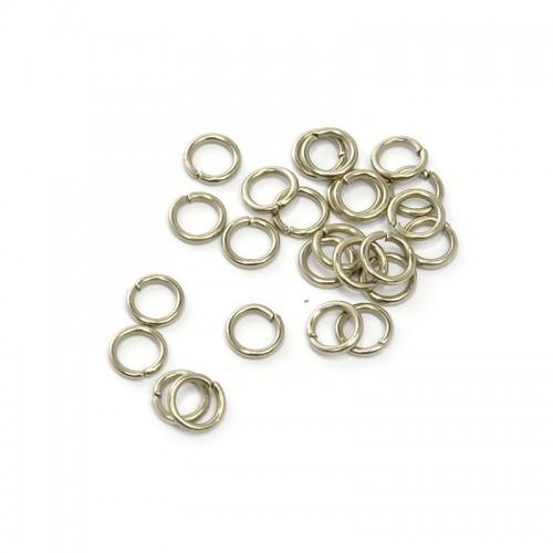 Колечки соединительные,цв-никель,5 мм,цена за 10 шт