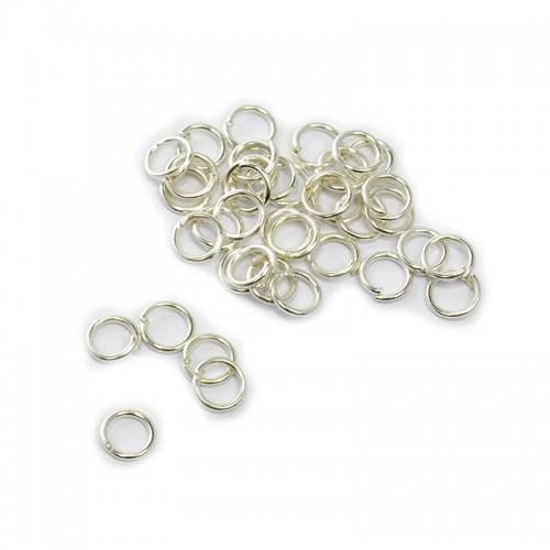 Колечки соединительные,цв-серебро,7 мм,цена за 10 шт