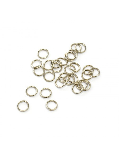 Колечки соединительные,цв-никель,7 мм,цена за 10 шт