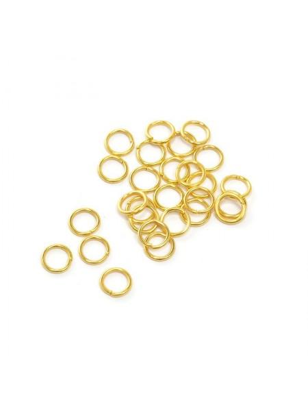 Колечки соединительные,цв-золото,5 мм,цена за 10 шт