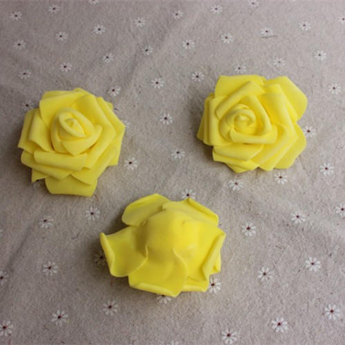 Роза из фоамирана,6 см,цвет жёлтый