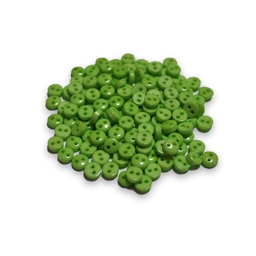 Пуговицы мини-6мм,цвет зелёный. Цена за 1 шт