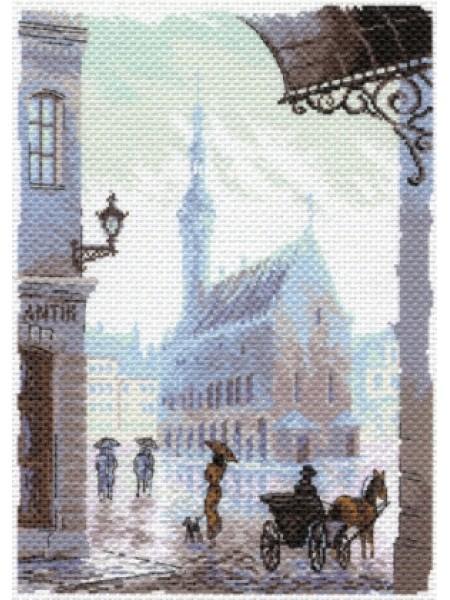 Рисунок на канве - старый город,МП-1643