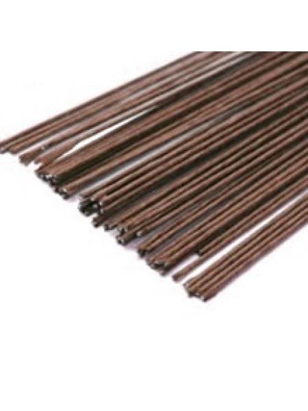 Проволока в бумажной обмотке,коричневая,0,9мм-цена за 10шт