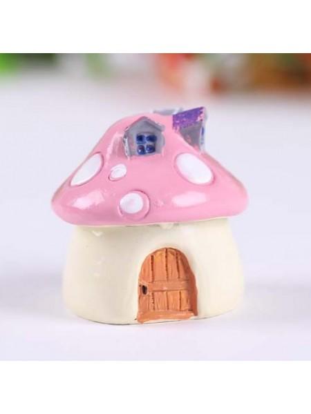 Миниатюра-домик,розовый