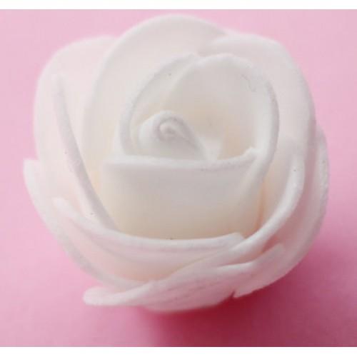 Роза из фоамирана 3-4см,-белая,цена за 1 шт