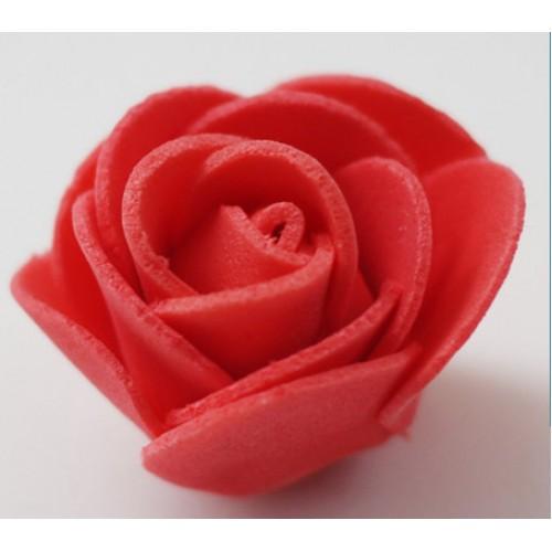 Роза из фоамирана 3-4см,-красная,цена за 1 шт