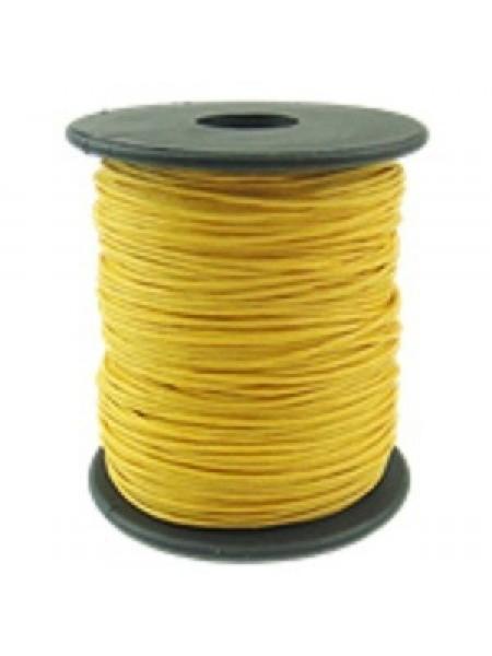 Вощеный шнур,1 мм. жёлтый,цена за 1 метр